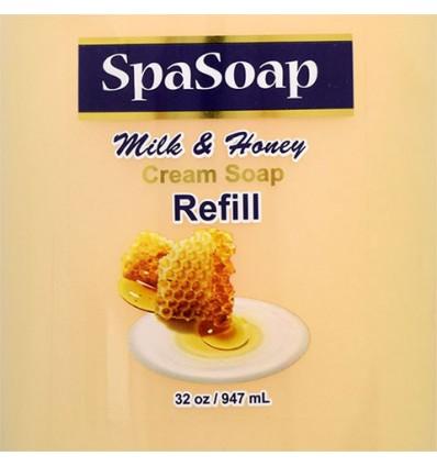 SpaSoap Milk & Honey Hand Soap, 32-oz. Refill Bottles