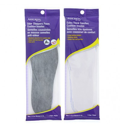 Assured Memory Foam Cushion Insoles