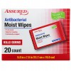 Assured Individually-Wrapped Antibacterial Moist Wipes, 20-ct. Packs