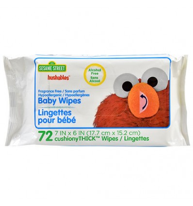 Sesame Street Fragrance-Free Hushables Baby Wipes, 72-ct. Packs