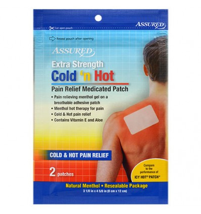 Assured Cold 'n Hot Pain Relief Medicated Patches, 2-ct. Packs