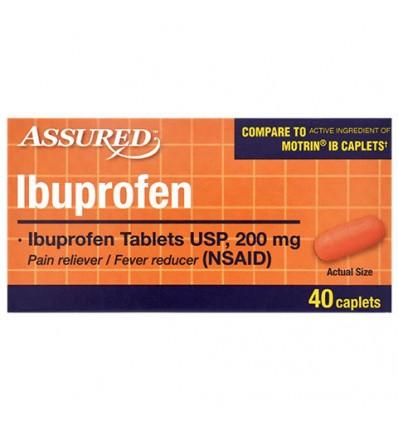 Assured Ibuprofen Caplets, 40-ct. Bottles