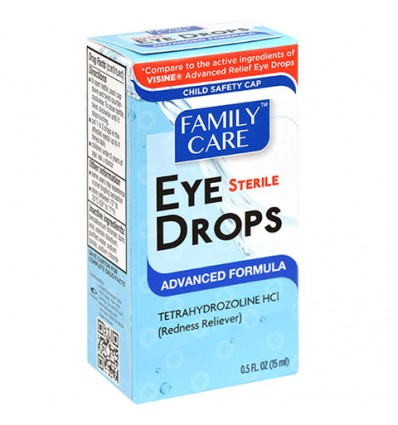 Family Care Advanced Formula Sterile Eye Drops, .5-oz. Bottles