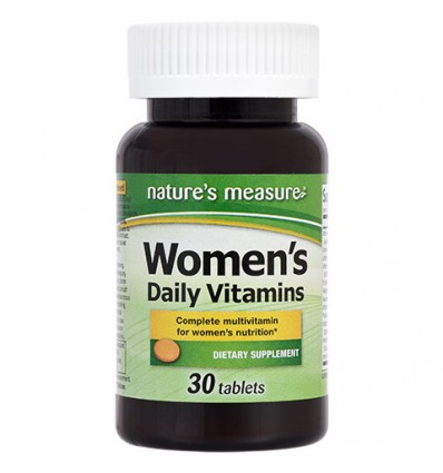 Natures Measure Womens Essential Vitamins with Iron, 30 ct.