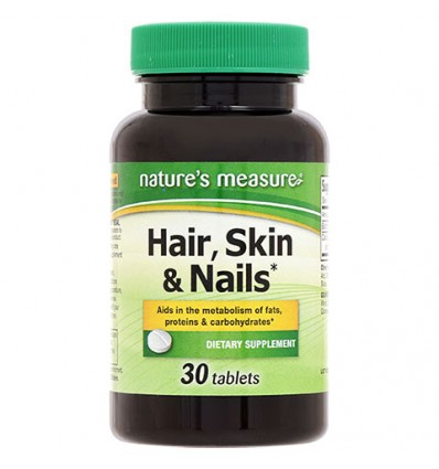 Nature's Measure Hair, Skins & Nails Tablets, 30-ct. Bottles