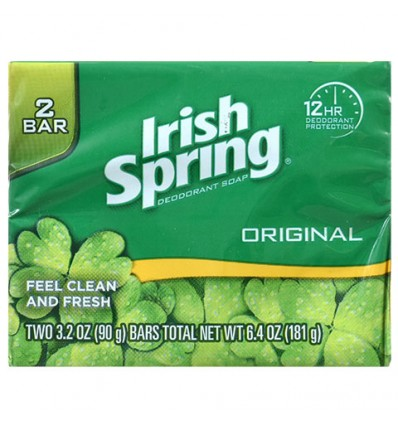Irish Spring Original Scent Soap Bars, 2-ct. Packs