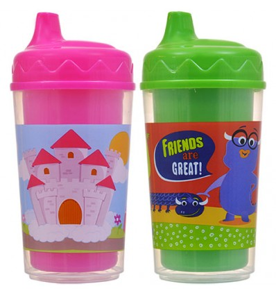 Colorful Double-Wall Sipper Cups, 9.5 oz.