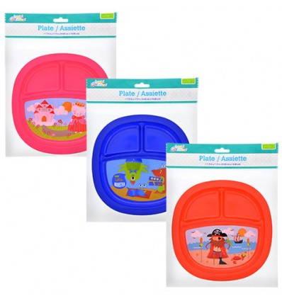 Angel of Mine Baby 3-Section Food Plates