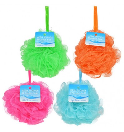 April Bath & Shower Mesh Body Sponges, 5 in.