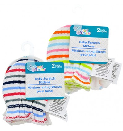 Angel of Mine Cotton Baby Scratch Mittens, 2-ct. Packs