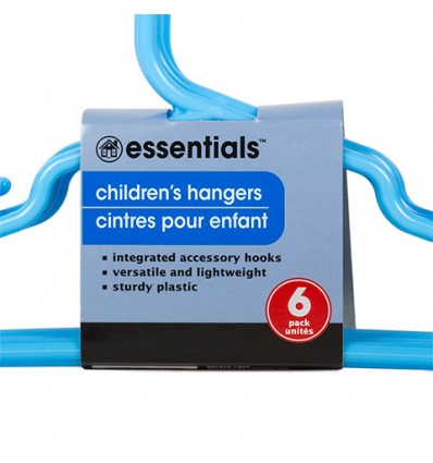 Childrens Plastic Hangers, 6-ct. Packs