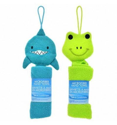 April Bath and Shower Animal Microfiber Hand Towels