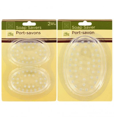 Home Collection Clear Plastic Soap Savers