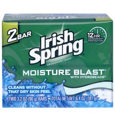 Irish Spring Moisture Blast Soap Bars, 2-ct. Packs
