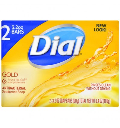 Dial Gold Antibacterial Deodorant Soap, 2-ct. Packs