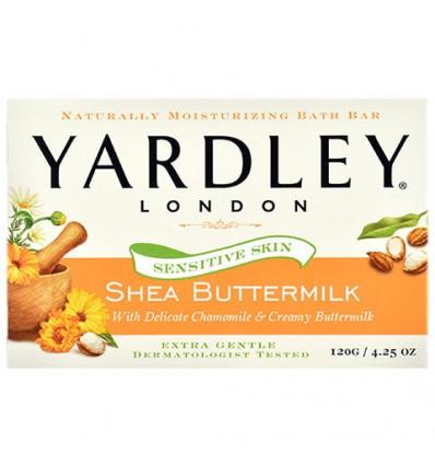 Yardley Shea Buttermilk Sensitive Skin Soap, 4.25-oz. Bars