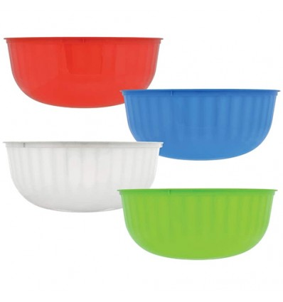 Large Colorful Plastic Bowls, 12 in.