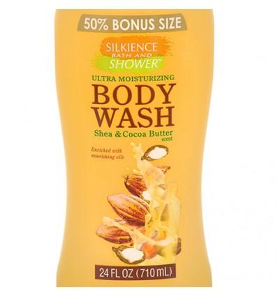 Silkience Moisturizing Body Wash with Shea Butter, 24-oz. Bottles