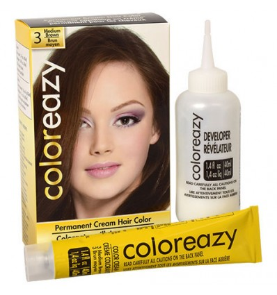 Color Eazy Womens Medium Brown Hair Color
