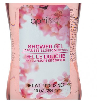 April Bath & Shower Cherry Blossom Shower Gel, 10-oz. Bottles