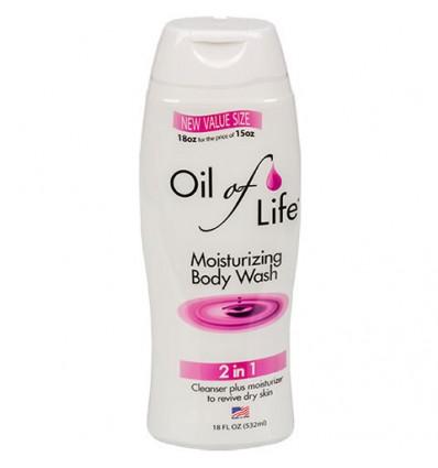 Oil of Life Moisturizing Body Wash, 18-oz. Bottles